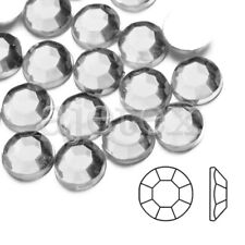 1000pcs 4mm Acrylic Flat Back Rhinestones Diamante Gems Nail Phone White
