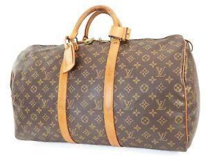 Authentic LOUIS VUITTON Keepall 50 Monogram Canvas Duffel Bag #39427