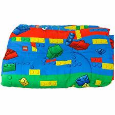 RARE Classic LEGO Bricks Twin Comforter Blanket Bedding Reversible 2007 Decor
