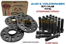 4pc 10MM  5x100/5x112 57.1 I.D Hubcentric Wheel Spacers Fits Audi Volkswagen
