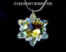 m/w Swarovski Crystal New AB Edelweiss 28mm Pendant on Chain Lilli Heart Designs