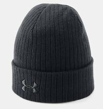 Under Armour UA 1318539 Black Tactical Stealth 2.0 Ribbed Cuff Beanie Hat