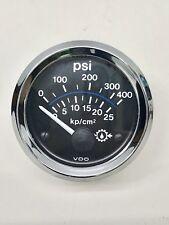 VDO 400 psi Transmission Oil Pressure Gauge~Diesel~Boat~Motorhome~12V~NO BULB