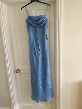Ice Blue Satin Full Length Occasion Dress Size 8