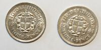 1941 x 2, 3 Pence Great Britain Silver a Lot of 2 High Grade / Value Coins