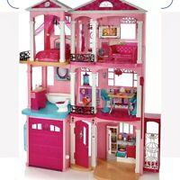 Mattel FFY84 Barbie Doll Dream House Pink 4 feet tall