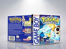 Pokemon Version Bleu - GameBoy - Replacement - Cover/Case - NO Game - FR/US
