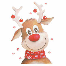 CUTE CHRISTMAS REINDEER  A5  IRON ON T SHIRT TRANSFER