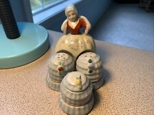 Vintage Salt & Pepper Shakers: Beautiful Lady Condiment Set