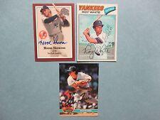"""""""MOOSE""""  (BILL)  SKOWRON(D.2012)ROY  WHITE/STEVE  FARR   Yankees  Signed  Cards"""