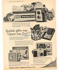 1957 Kodak BROWNIE Starflex Camera Outfit, Pony IV, Movie Camera VTG PRINT AD
