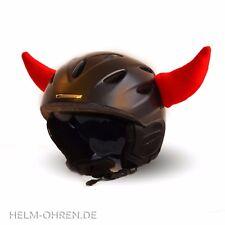 Helmhörner /Ohren Teufel Deko Hörner f Helm Skihelm Snowboardhelm Kinderhelm Rot