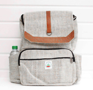 Hemp bag backpack rucksack school travel laptop Handmade organic bag to school