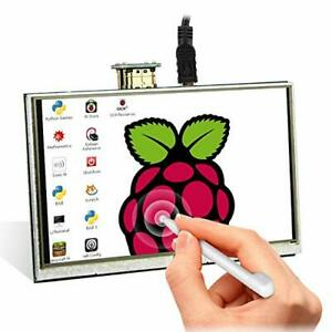 For Raspberry Pi 4, Elecrow 5 Inch Small Touch Screen LCD Monitor 800x480 TFT