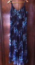 CHIC BLACK/FLORAL SPAGHETTI STRAP LINED HI LO DRESS  SIZE: XS BNWOT