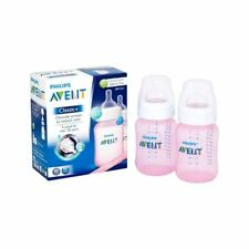 Avent Classic+ Pink 9oz Bottle Twin Pack - Pack of 2