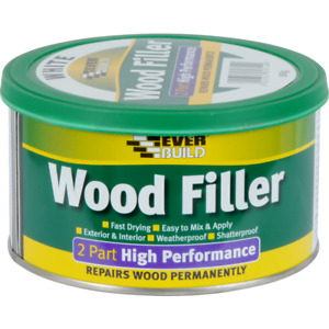 Everbuild 2 Part High Performance Wood Filler Paintable 500g External 8 colours