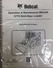 Bobcat S770 Skid Steer Operation & Maintenance Manual Operator/Owners  #6989467
