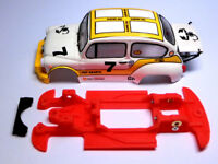 Chasis 600 Abarth 1000 TC Block lineal compatible SCX Scalextric ES