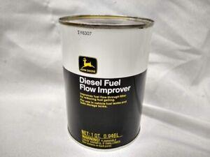 Vintage John Deere diesel fuel flow improver conditioner metal quart can oil