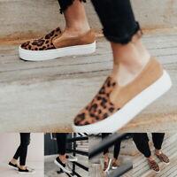 Women Lady Espadrilles Slip On Flat Round Toe Deck Ladies Simple Shoes Sneakers