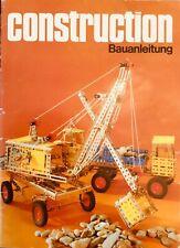 Construction Metallbaukasten  Original model book bauanleitung DDR Berlin 1984