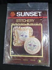 Joys of Marriage Sunset Stitchery Candlewick Needlepoint Kit Pattern Fabric K7