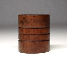 Vintage Wood Wooden Jewelry Trinket Pill Box