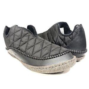 SOREL Mens Manawan II Quilted Nylon Bootie Shoe Slippers Black 10.5 (MSRP $85)