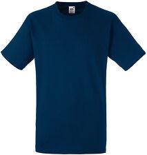 Lot de 5  tee-shirt HEAVY-T Fruit Of The Loom navy 185gr - SC61212