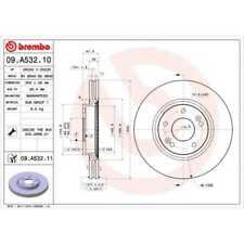 BREMBO 2x Bremsscheiben Innenbelüftet beschichtet 09.A532.11