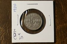 A-76 1934 Canada 5 Cents nickel King George V Nice Detail