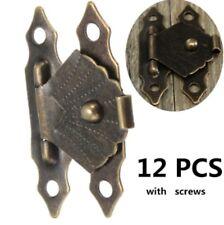 12pc Set MINI PICCOLO ANTICO BRONZO Tono Serratura Cassa Serratura Craft Lucchetto CERNIERE Regno Unito c