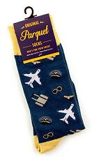 Pilot Men's Socks Novelty Airplane Jet Casual Cotton Blend Fashion Blue Socks