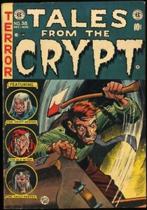 TALES FROM THE CRYPT #38 (1953) FN 6.0  GOLDEN AGE EC HORROR!