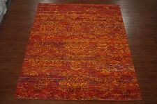 Bamboo Silk Modern 8X10 Oriental Hand-Knotted Area Rug Carpet New