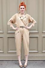 Damen Overalls Jumpsuit Sahara beige 80er True VINTAGE women 80s Sommer summer