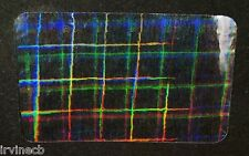 Hologram Plaid Overlays Inkjet Teslin ID Cards - Lot of 10
