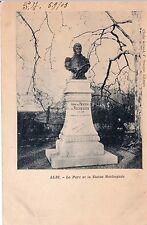 ALBI le parc et la statue roche gude cliché AILLAUD écrite 1903