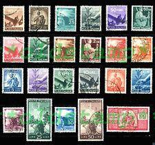 ITALIA ITALY 1945-48 1946 Democratica 23v Annullata Usata Prima Scelta