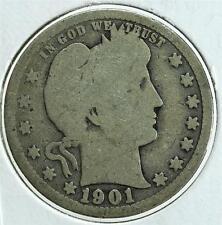 1901 Barber Quarter Dollar, Free Shipping, BQA6