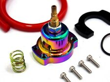 HONDA ACURA RACING ADJUSTABLE FUEL PRESSURE REGULATOR RISER GAUGE KIT NEO CHROME