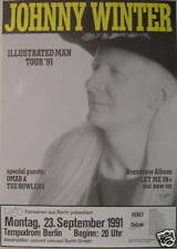 JOHNNY WINTER CONCERT TOUR POSTER 1991 LET ME IN