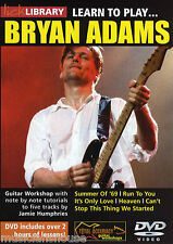LICK LIBRARY Learn to Play BRYAN ADAMS SUMMER OF 69 RUN TO YOU ROCK Guitar DVD