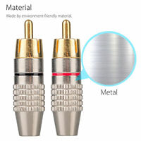 RCA Male Plug Solder Fre Gold Audio Video Adapter Connector Buy 3 Pair Get 3 Fre