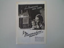 advertising Pubblicità 1938 RADIO MAGNADYNE SV 54
