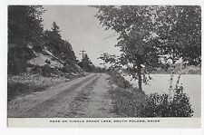 Vintage Postcard South Poland ME Maine Middle Range Lake Road Dirt