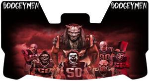 Custom New England Patriots Boogiemen Football Helmet Visor, W/ Unbranded Clips