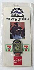 Colorado Rockies 1993 Lapel Pin Series Pin #2  7 Eleven Coca Cola Sports Memory