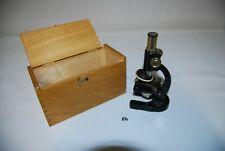 C86 Ancien microscope - étui d'origine - vintage - science